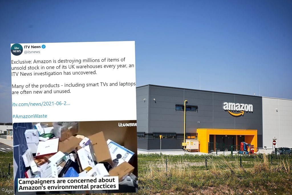 Amazon niszczy miliony nowych produktów. Ujawniło to śledztwo dziennikarzy