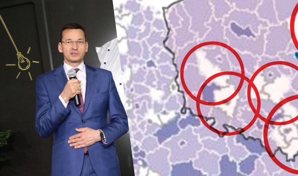 Wicepremier Mateusz Morawiecki ogłasza likwidację znacznej części białych plam na mapie dostępu do internetu