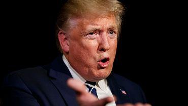 Prezydent USA Donald Trump. Waszyngton, Biały Dom, 23 sierpnia 2019