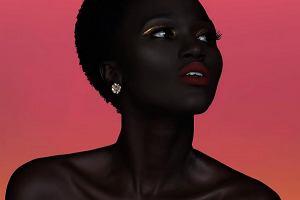Modelka o czekoladowej skórze