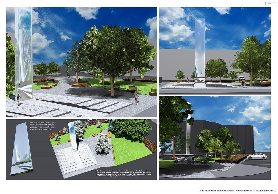 Wizualizacja Pomnika Niepodległości na pl. Legionów