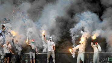 Kibice podczas meczu Legia Warszawa-Lech Poznań