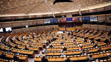16.09.2020 Belgia, Bruksela.  Ursula von der Leyen podczas przemówienia w Parlamencie Europejskim.