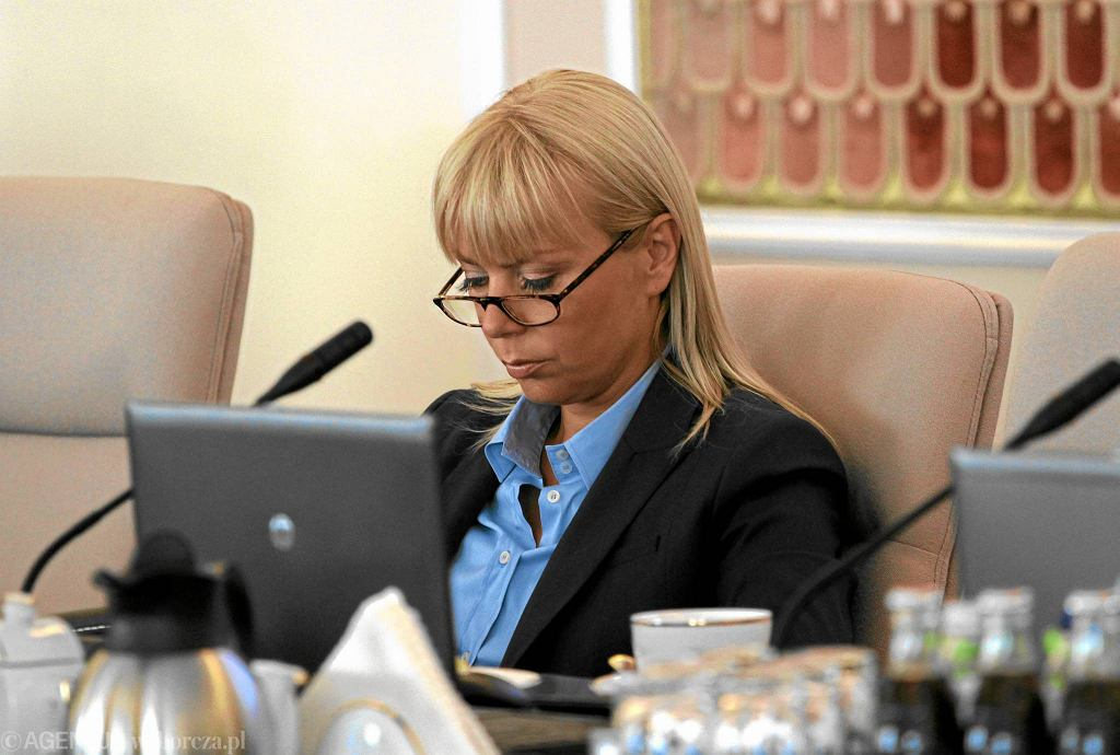 Elżbieta Bieńkowska podczas posiedzenia rządu