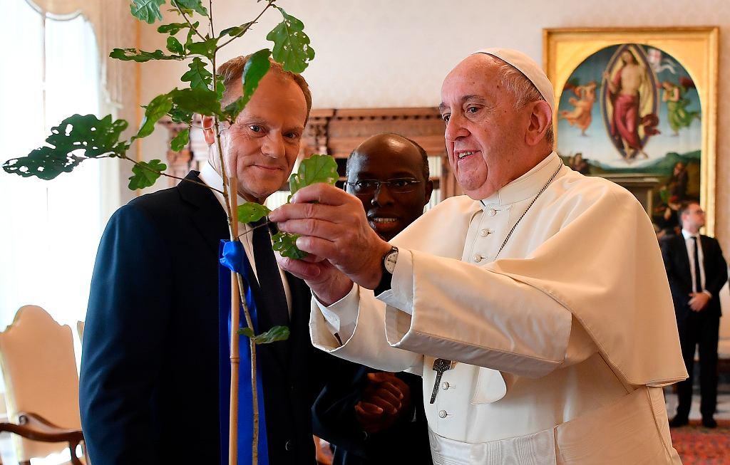 Spotkanie Donalda Tuska z papieżem Franciszkiem