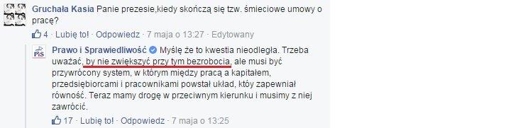 Jarosław Kaczyński o umowach śmieciowych