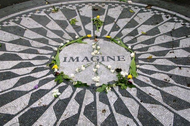 Mozaika upamiętniająca Johna Lennona