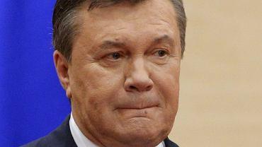 Wiktor Janukowycz na dzisiejszej konferencji