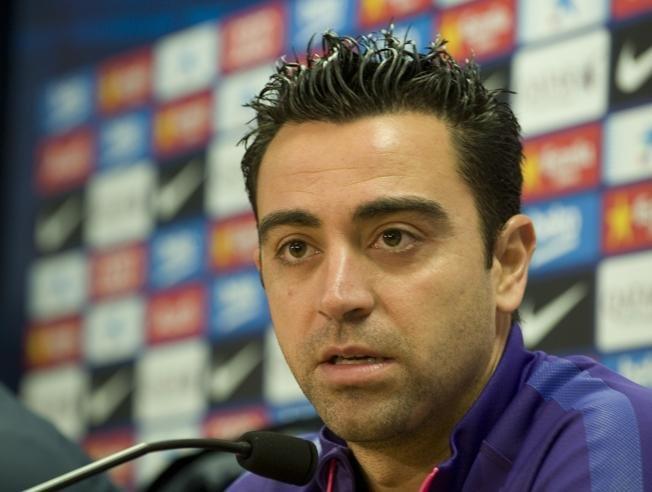 Xavi na konferencji prasowej