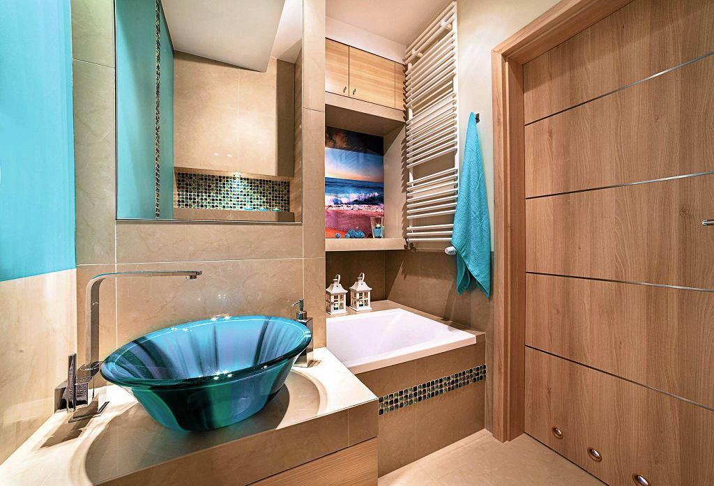 Grzejnik w łazience.