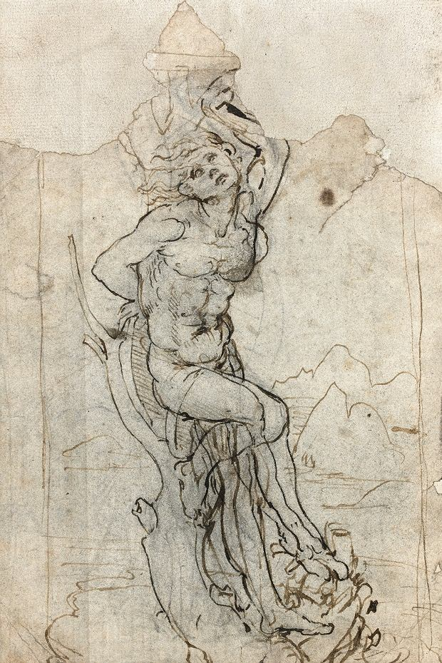 Szkic Leonardo da Vinci przedstawiający męczeństwo św. Sebastiana