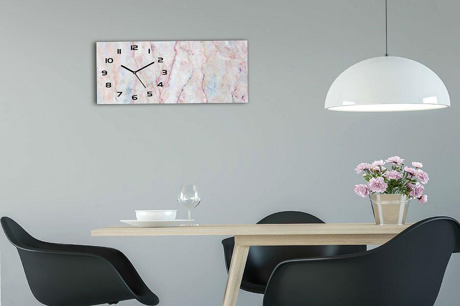 Zegar szklany Marmur