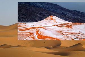 To przejdzie do historii: sfotografował śnieg na Saharze. Ostatni raz padał tam 35 lat temu [ZDJĘCIA]