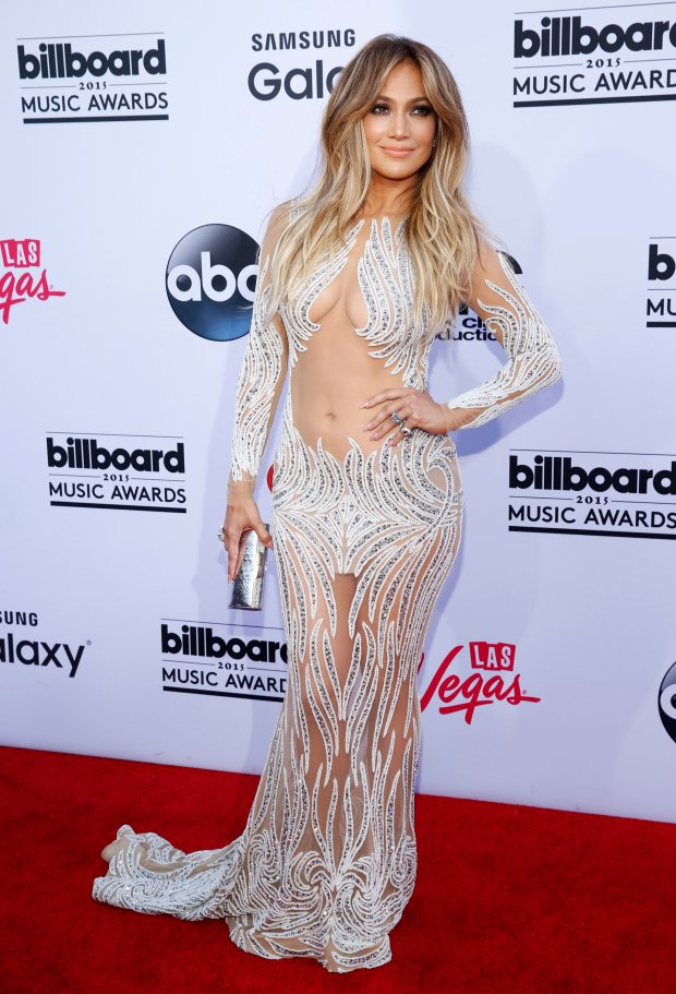 Jennifer Lopez arrives at the Billboard Music Awards at the MGM Grand Garden Arena on Sunday, May 17, 2015, in Las Vegas. (Photo by Eric Jamison/Invision/AP)