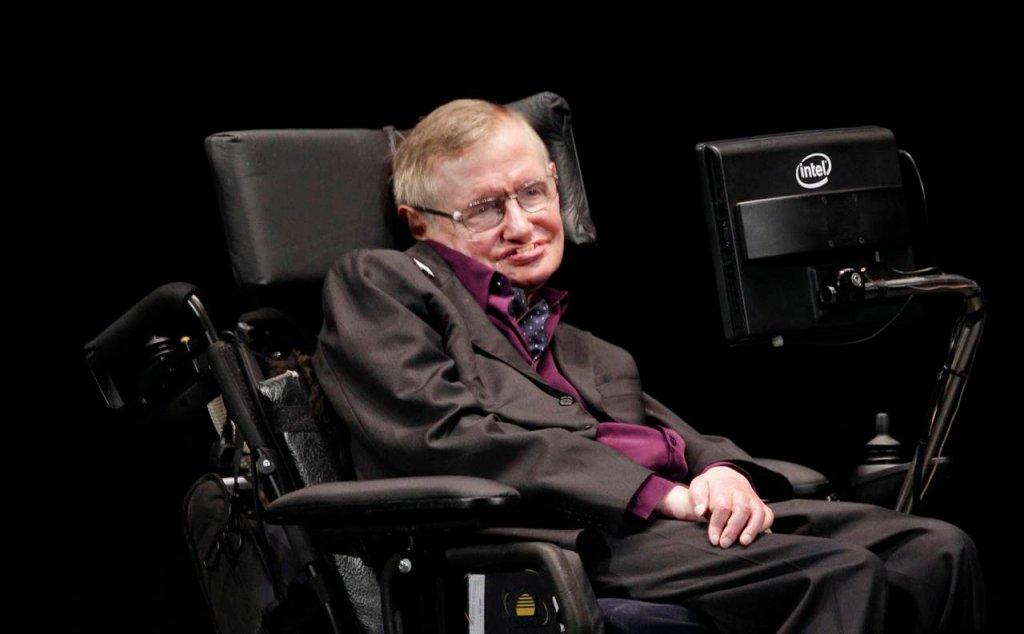 Stephen Hawking na festiwalu naukowym w Seattle w czerwcu 2012 roku