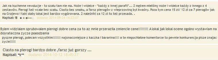 Komentarze o Pierożkarni z E-grajewo.pl