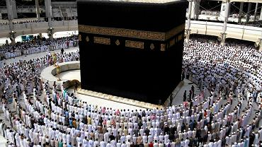 Kaaba w Wielkim Meczecie w Mekce