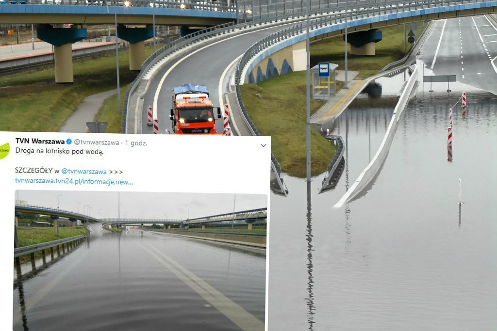 Ten sam odcinek zalany w grudniu 2016 i obecnie