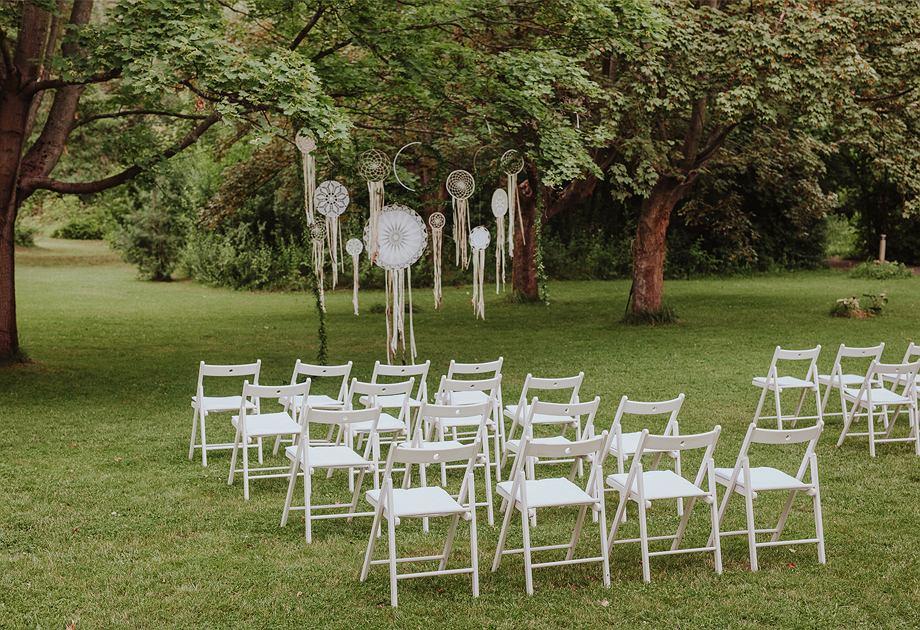Ślub w stylu boho w plenerze