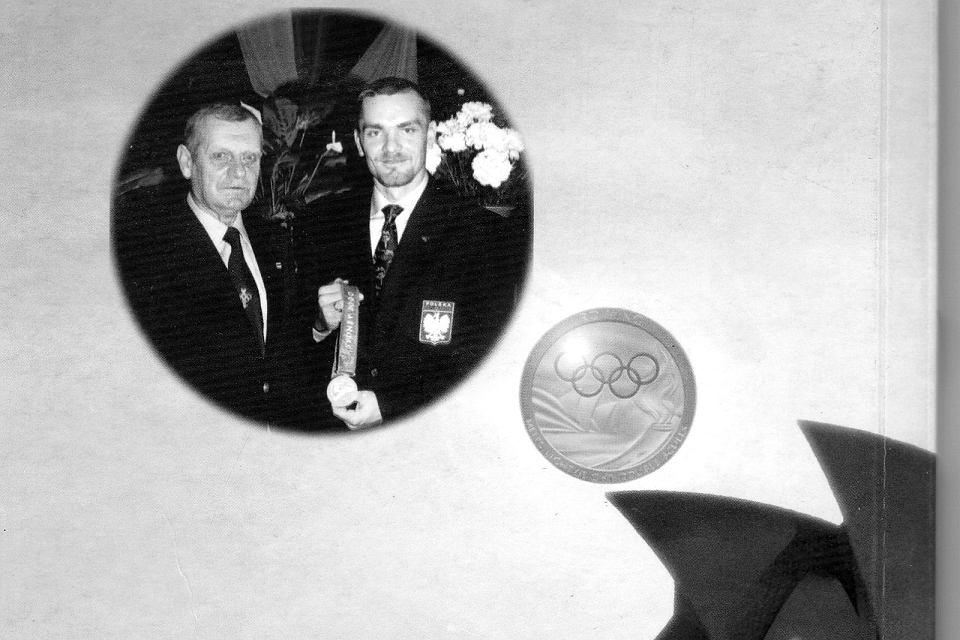 Zbigniew Szafkowski (z lewej) z Tomaszem Kucharskim, wioślarzem AZS AWF Gorzów, mistrzem olimpijskim