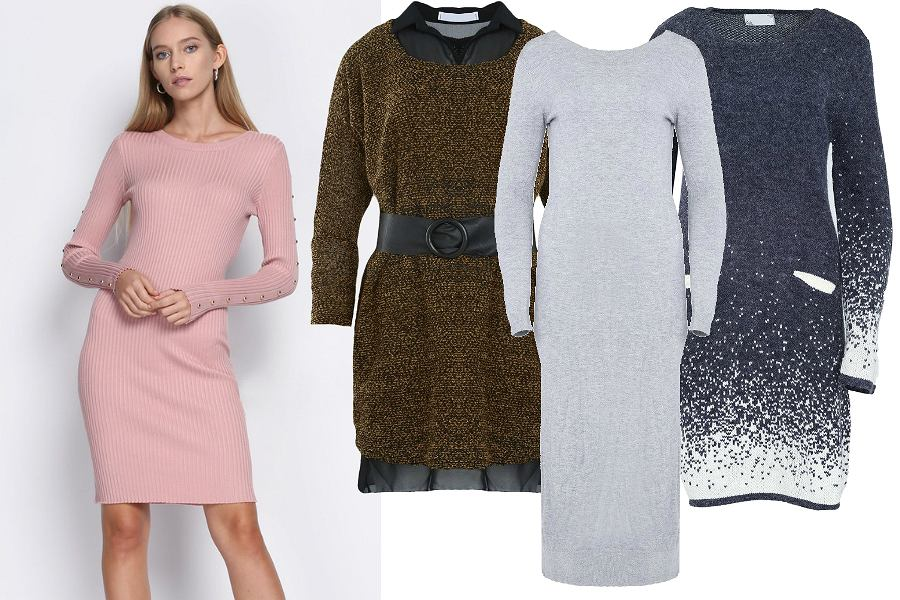 Born2be sukienki swetrowe