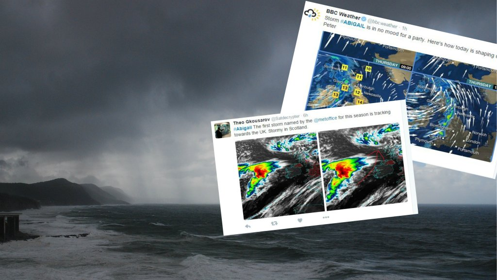 Cyklon Abigail zbliża się do Wielkiej Brytanii