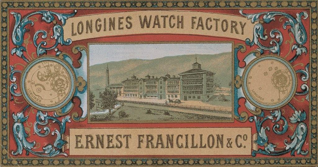 Longines - plakat z 1873 roku