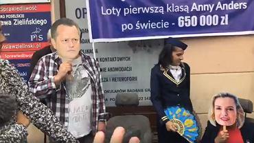 Protest KOD przeciwko wydatkom na podróże lotnicze senator Anny Anders (PiS), szacowanych na 650 tys. zł.