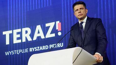 Konwencja założycielska partii Teraz ! w Warszawie. Przemawia Ryszard Petru.