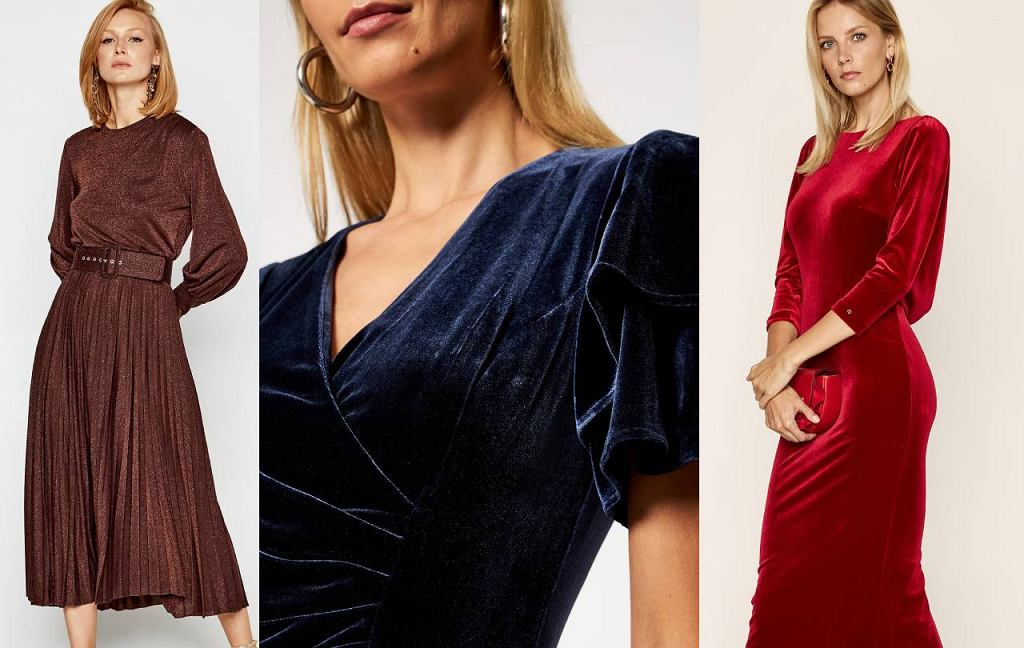 Welurowe sukienki