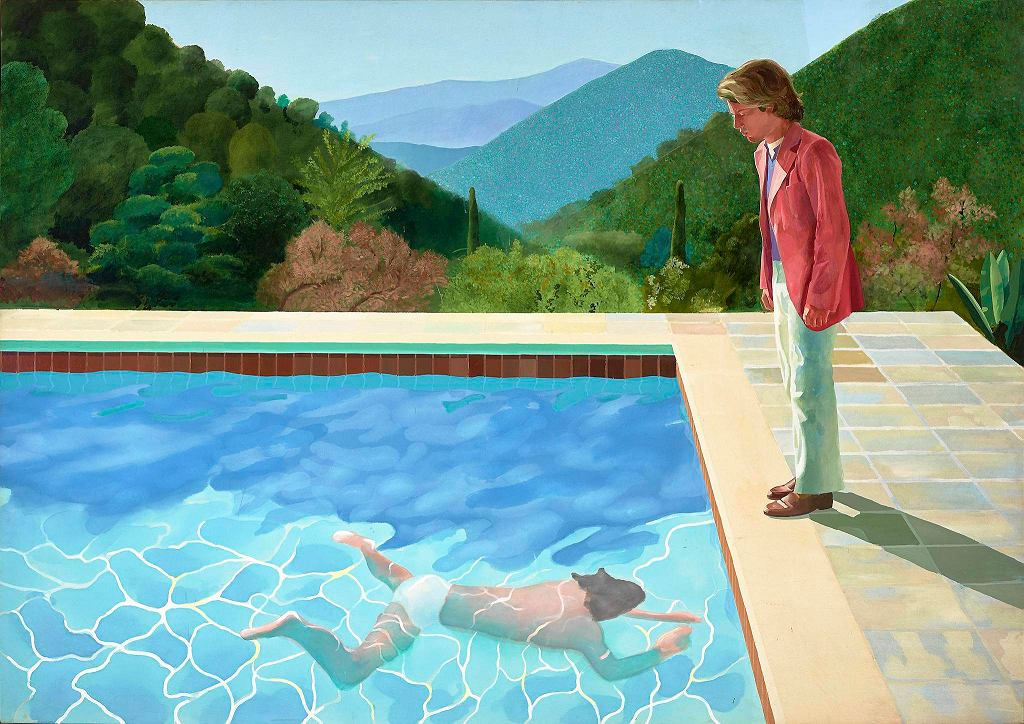/ DAVID HOCKNEY, 'PORTRAIT OF AN ARTIST (POOL WITH TWO FIGURES) ART GALLERY OF NEW SOUTH WALES