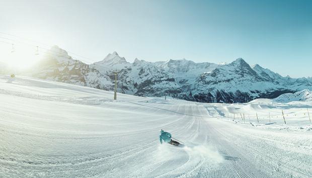!Schweiz. ganz natuerlich. Skigenuss im Gebiet Grindelwald-First.Switzerland. get natural.Skiing in the Grindelwald-First area.Suisse. tout naturellement. Skier dans la region de Grindelwald-First.Copyright by: Switzerland Tourism - By-Line: swiss-image.ch/Sebastien Staub