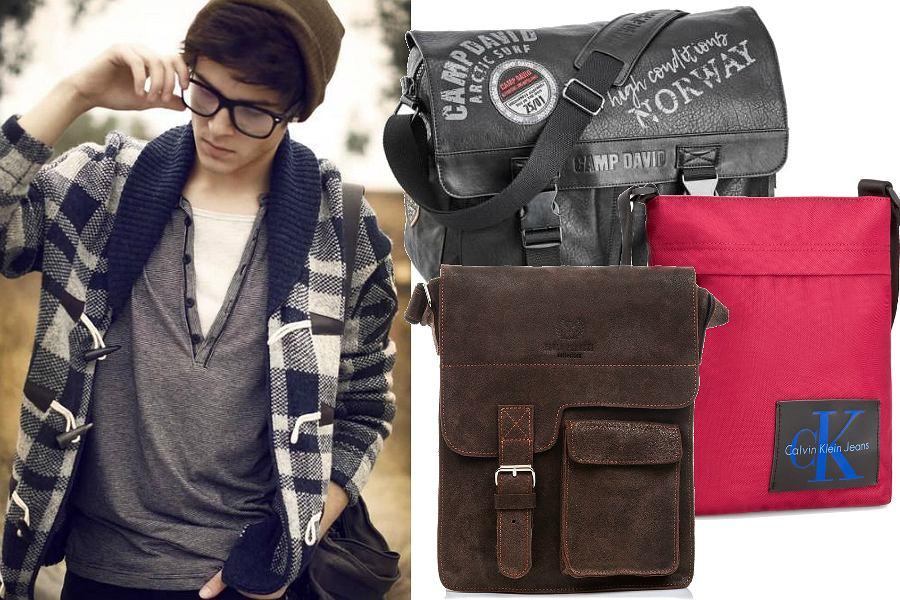 Młodzieżowe torby męskie na ramię
