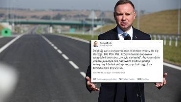 Andrzej Duda o cenach paliwa na Twitterze