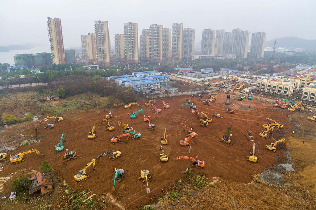Budowa szpitala w Wuhan