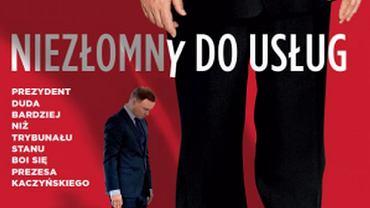 """Fragment okładki najnowszego """"Newsweeka"""" z prezydentem Andrzejem Dudą"""