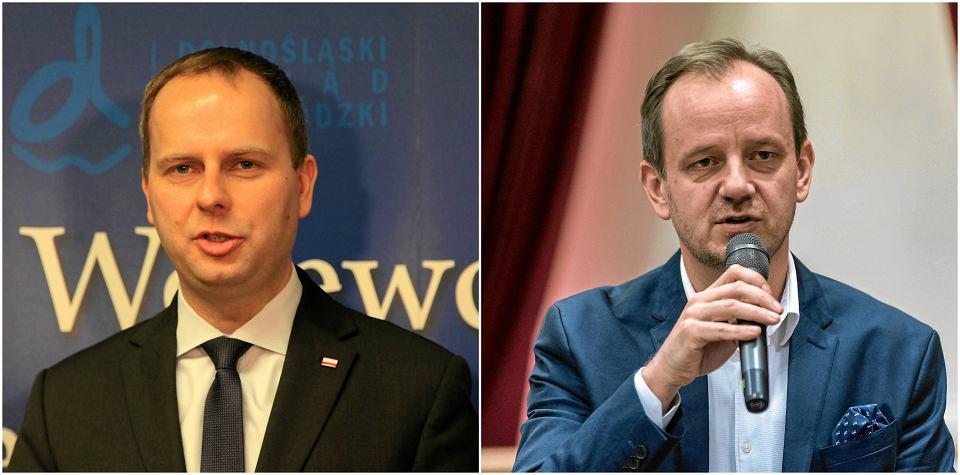 Wojewoda Paweł Hreniak i dyrektor Opery Wrocławskiej Marcin Nałęcz-Niesiołowski. Wojewoda: Uchwała o odwołaniu dyrektora jest nieważna.