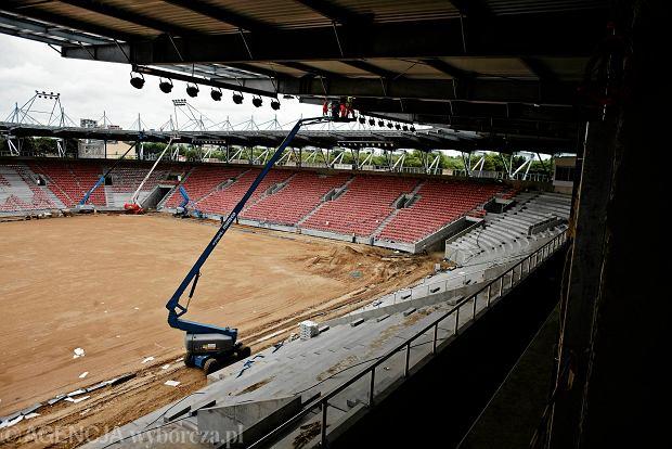 Zdjęcie numer 18 w galerii - Budowa stadionu Widzewa. Widać już napis