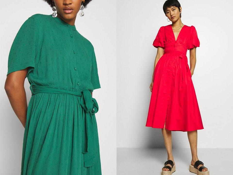 modne kolorowe sukienki