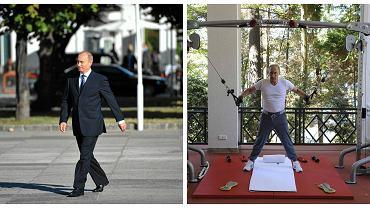 Władimir Putin podczas wizyty w Polsce i podczas sesji zdjęciowej na silowni