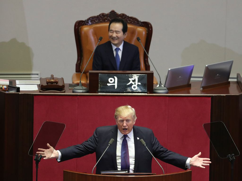 Donald Trump w parlamencie Korei Południowej