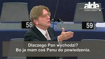 Guy Verhofstadt? do Ryszarda Legutki