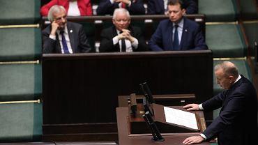 7 kwietnia w Sejmie, Grzegorz Schetyna uzasadnia wotum nieufności dla Beaty Szydło