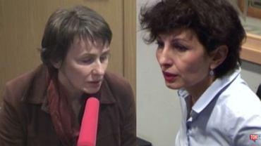"""Agnieszka Romaszewska-Guzy (Biełsat) i Renata Kim (""""Newsweek"""") w """"Poranku Radia TOK FM"""""""