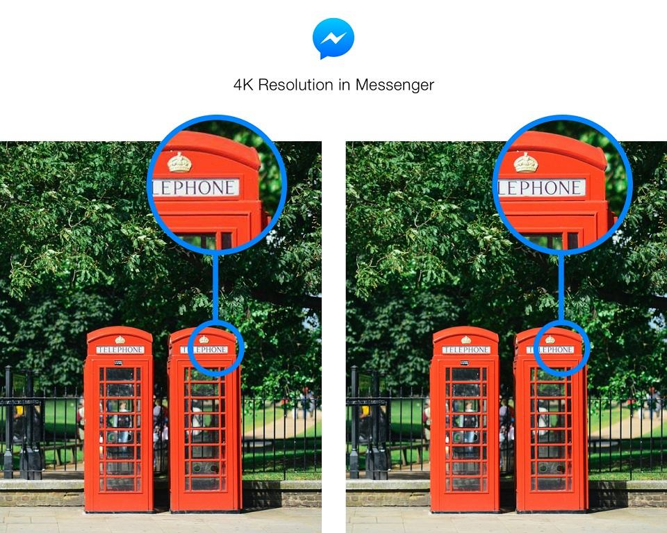 Zdjęcia w 4K w Facebook Messengerze