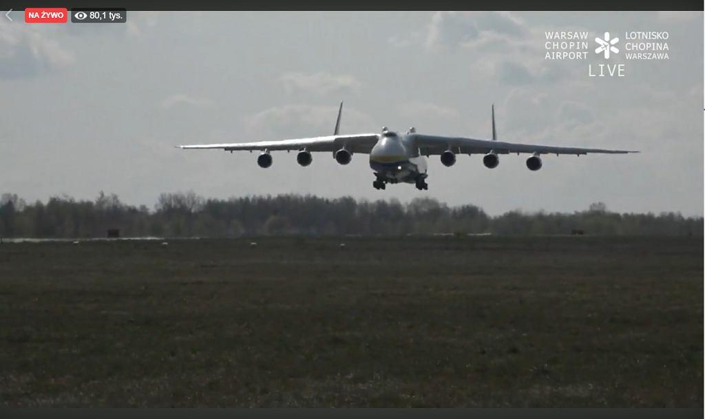 An-225 w Warszawie