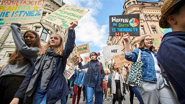 Młodzieżowy Strajk Klimatyczny w Łodzi.
