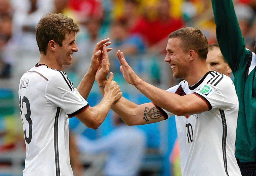 Thomas Mueller i Lukas Podolski