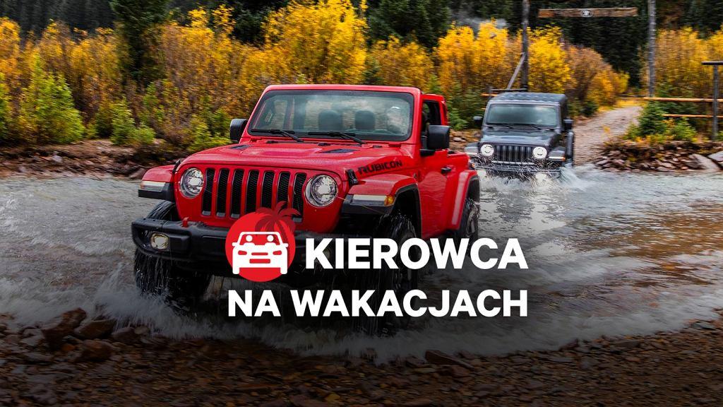 Jeep Wrangler, kierowca na wakacjach
