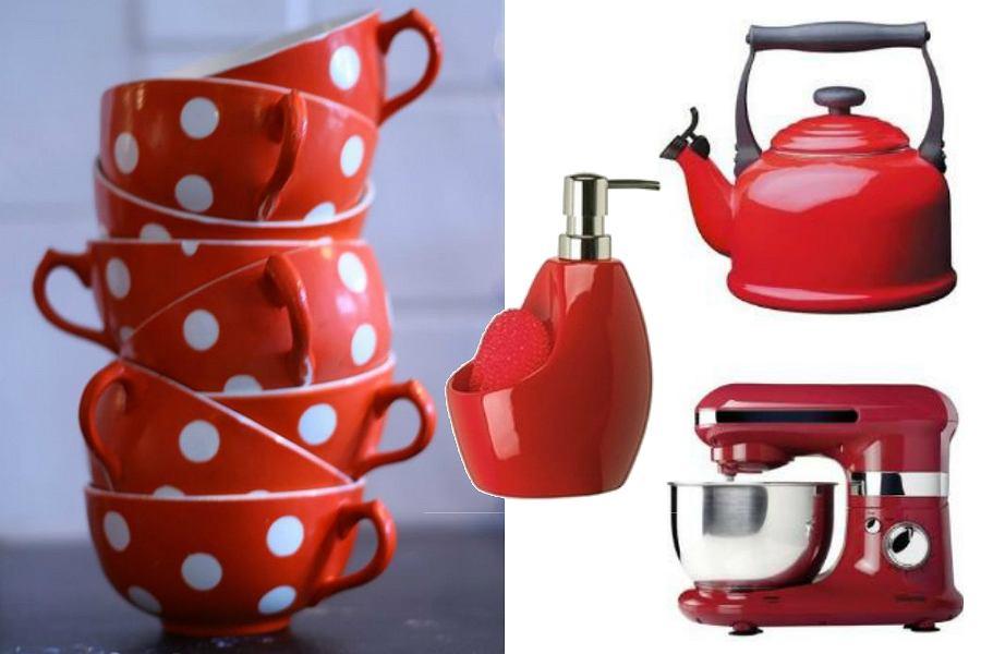 Czerwone dodatki kuchenne